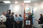 The annual DeFlumere Award acknowledged the heroic efforts of several agencies during Hurricane Sandy.